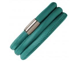 Bracelet cuir de veau véritable 3 rangs Endless vert Bayou - 12118-3