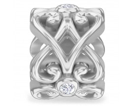 Charm argent Endless Heart Rose - 41355