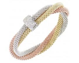 Bracelet argent tricolore Una Storia - BR13466