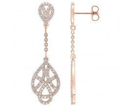 Boucles d'oreilles plaqué or rose Element of Life - TSWL68Z