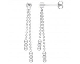 Boucles d'oreilles pendants argent Fontenay - ASWA144Z