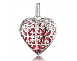 Pendentif argent grelot rouge Engelsrufer - ERP-05-HEART-L