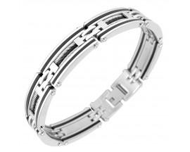 Bracelet acier & résine Phebus - 31/0045-G/N