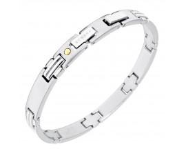 Bracelet acier & or Phebus - 34/0266