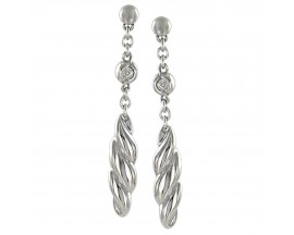 Boucles d'oreilles pendantes acier Morellato - SZY16