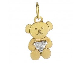 Pendentif or & diamant(s) Ourson Christian Bernard - QF120XB5