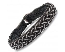 Bracelet cuir Hanna Wallmark - B38 C01