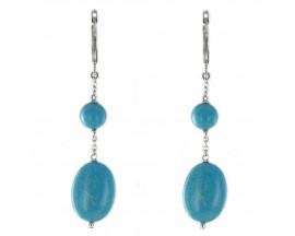 Boucles d'oreilles pendantes argent Robbez Masson - 305644