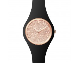 Montre ICE glitter Black Rose-Gold Small (38mm) Ice-Watch - 001346