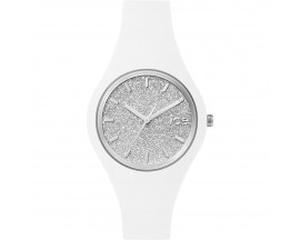 Montre Ice Glitter White Silver Small (38mm) Ice Watch - ICE.GT.WSR.S.S.15
