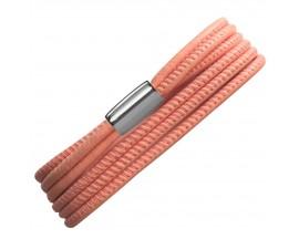 Bracelet cuir de veau véritable Peach 3-Brins Endless -