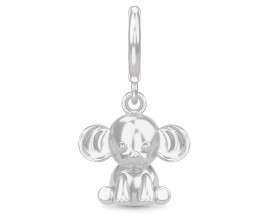 Charm argent Endless Amethyst Charming Elephant Silver - 43444