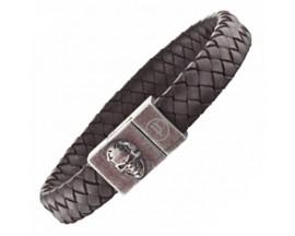 Bracelet cuir & acier Police - PJ25686BLC02L
