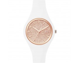 Montre ICE glitter White Rose Gold Small (38mm) Ice-Watch - 001343