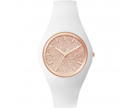 Montre ICE glitter White Rose Gold Medium (43mm) Ice-Watch - 001350