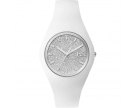 Montre ICE glitter White Silver Medium (43mm) Ice-Watch - 001351