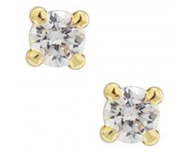 Boucles d'oreilles boutons or Stepec - N8808VIS