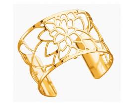 Bracelet manchette Les Georgettes - Nénuphar finition or 40 mm