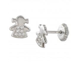 Boucles d'oreilles boutons or Stepec - N10855GRIS V