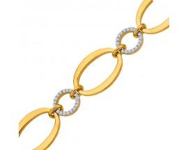 Bracelet empierré plaqué or GL Paris - Altesse - 70264640108