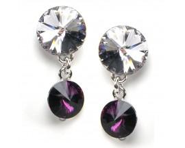 Boucles d'oreilles pendantes argent Indicolite - BOPU-RICO-204