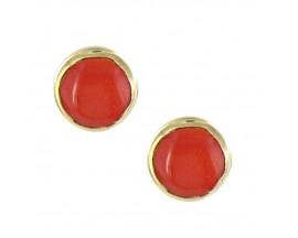 Boucles d'oreilles boutons or Clozeau - V001FE