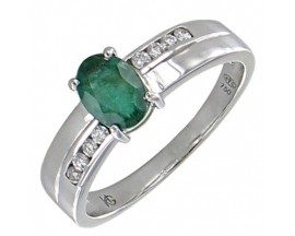 Bague or émeraude & diamants Stepec - BS 1732 EF/BTS