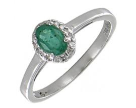 Bague or émeraude & diamants Stepec - BS 1646 EF/DTS