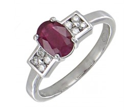 Bague or rubis & diamants Stepec - BS 1729 RF/BTS