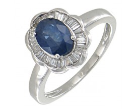 Bague or saphir & diamants Stepec - BS 1793 SF/BTS
