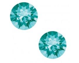 Boucles d'oreilles boutons Indicolite - PU-RON6-263