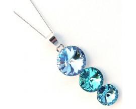 Collier argent Indicolite - CO-RICO-211