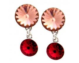 Boucles d'oreilles pendants argent Indicolite - BOPU-RICO-208
