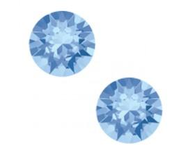 Boucles d'oreilles boutons argent Indicolite - PU-RON6-211