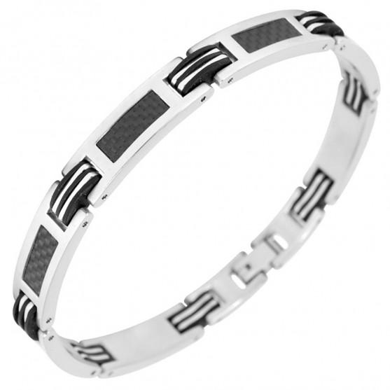 Bracelet acier & carbone Phébus 35 0450