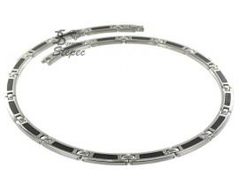 Collier acier & carbone Phébus - 75-0077