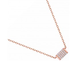 Collier empierré or rose Lore - L5A01RZ