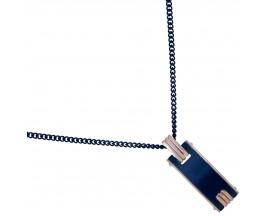 Collier acier & céramique Phébus - 72-0013-N-R