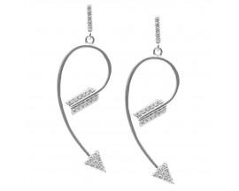 Boucles d'oreilles pendants argent Orus - E256