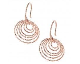 Boucles d'oreilles pendants argent rosé Orus - CA230PINK