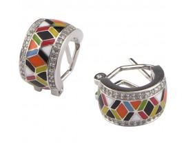 Boucles d'oreilles créoles argent Una Storia - BO12193