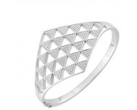 Bracelet rigide argent empierré EOL Paris - ASBA209Z58