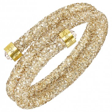Bracelet-jonc Swarovski - Crystaldust Bangle Double CRY/SILK/PGO
