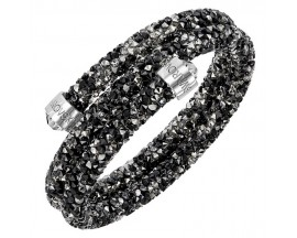 Bracelet-jonc Swarovski - Crystaldust Bangle Double DMUL/STS