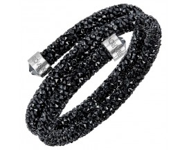 Bracelet-jonc Swarovski - Crystaldust Bangle Double JET/STS