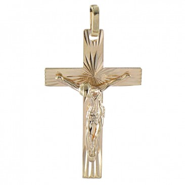 40bdf83098c55f Pendentif croix or Lucas Lucor - XK1321 - Bijouterie Stepec