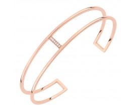 Bracelet rigide plaqué or rose empierré EOL Paris - TSBL70Z63