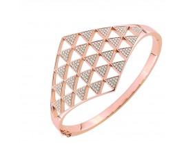 Bracelet rigide plaqué or rose empierré EOL Paris - TSBM16Z58