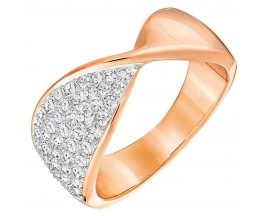 Bague Swarovski - Freedom Ring Narrow CRY/ROS