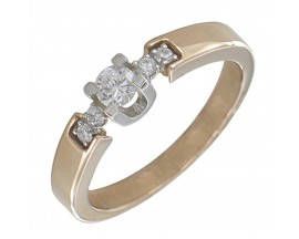 Bague or diamant(s) Clozeau - E118DRG18